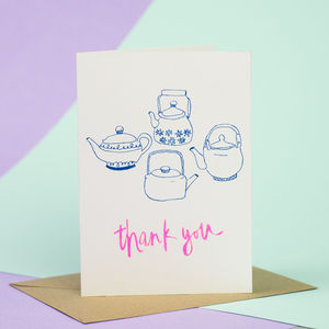 Teapots Thank You Card - thank you cards