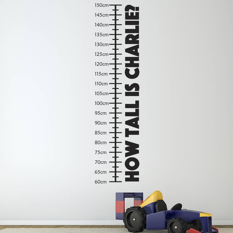 Personalised Childrens Height Chart By Mirrorin