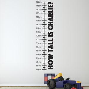 Personalised Childrens Height Chart - bedroom