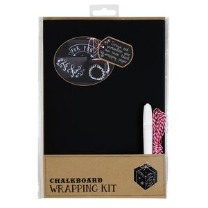 Chalkboard Wrapping Paper Kit