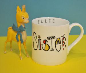 Personalised Sister Mug