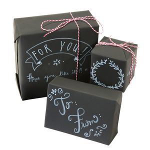 Chalkboard Wrapping Paper Kit - ribbon & wrap