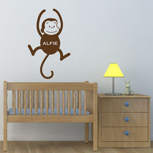 Personalised Monkey Wall Art - new in baby & child
