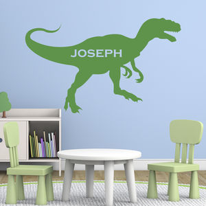 Personalised T Rex Wall Sticker - decorative accessories