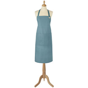 Plain Dyed Teal Cotton Apron - kitchen accessories
