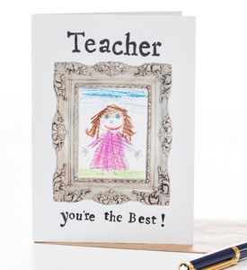 'Teacher You're The Best' Thankyou Card - gifts for teachers