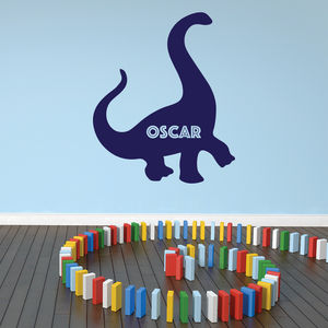 Personalised Dinosaur Wall Decal - wall stickers