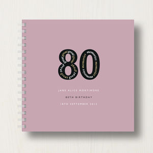 Personalised 80th Birthday Memories Album - 80th birthday gifts