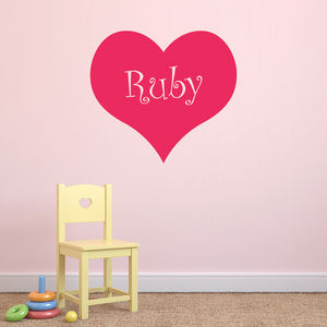 Personalised Heart Wall Sticker - wall stickers