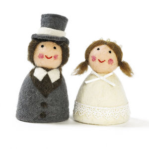 Bride And Groom Egg Cosy - egg cups & cosies