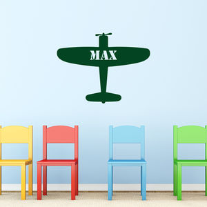 Personalised Aeroplane Wall Sticker