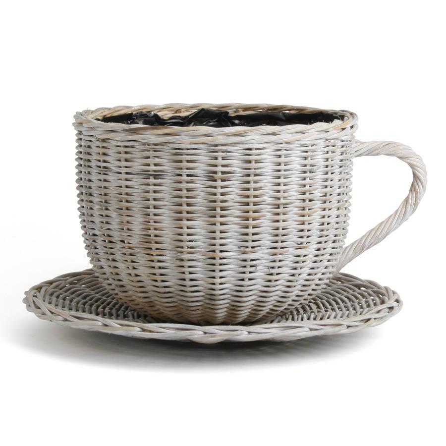 Large Willow Teacup Planter By Garden Gear Notonthehighstreet Com