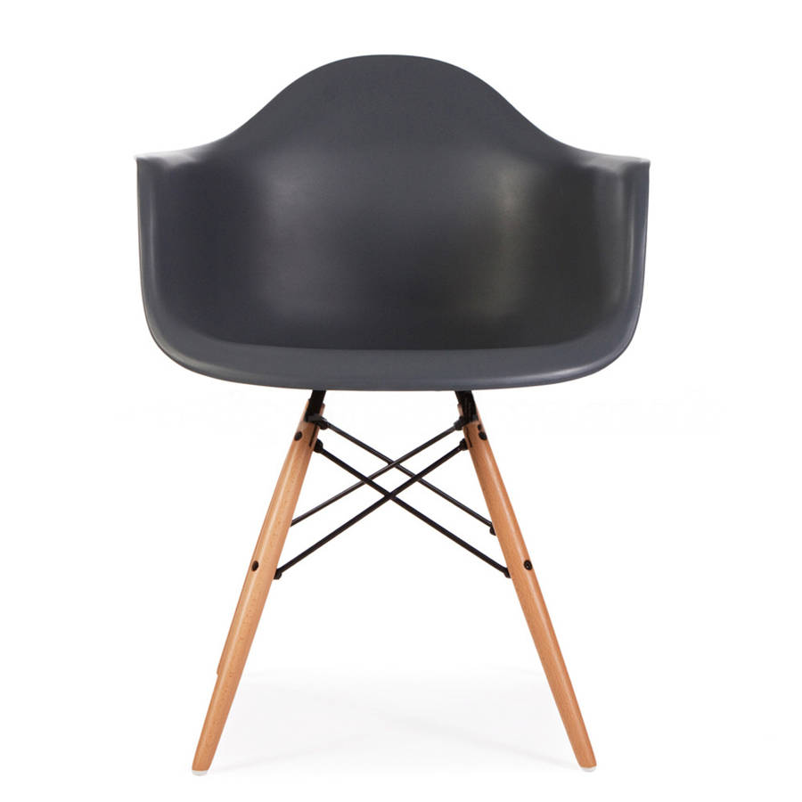 chair eames style wood base chair by ciel. Black Bedroom Furniture Sets. Home Design Ideas