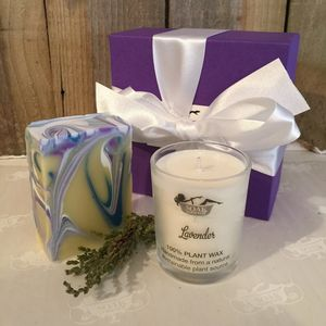 Soak Yourself Lavender Soap And Candle Set - occasional supplies