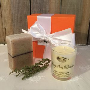 Soak Yourself Simply Spicy Soap And Candle Set - home accessories