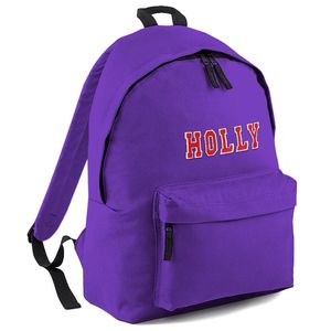 Personalised Appliqué Name Backpack Purple - backpacks