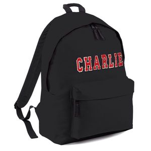 Personalised Applique Name Backpack Black