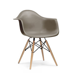 Chair, Eames Style Wood Base Chair - furniture