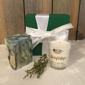 Soak Yourself Lime Soap And Candle Set