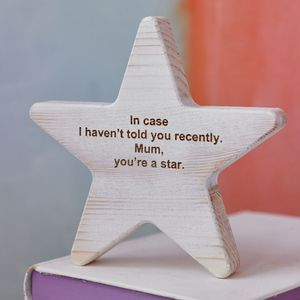 Personalised Wooden Star Keepsake - decorative accessories