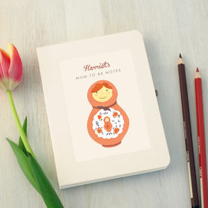 Personalised Mum To Be Notebook