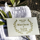 Save The Date Stamp With Natural Wreath