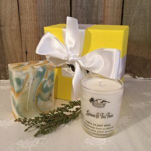 Soak Yourself Zesty Soap And Candle Set