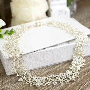 Crystal Lace Necklace - bridal edit