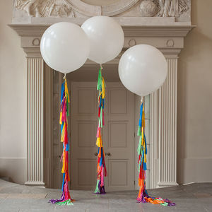 Rainbow Tassel Tail Giant Balloon - summer wedding
