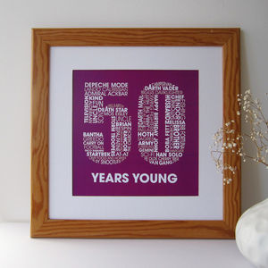 Personalised 50th Birthday Print - dates & special occasions