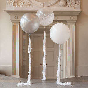 Innocence Feather Filled Giant Balloon - winter wedding ideas