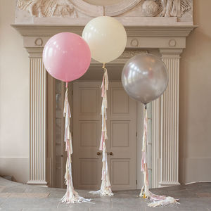 Giant Tassel Tail Balloon - art deco wedding style