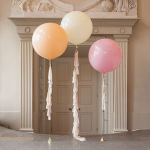 Elegance Tassel Tail Balloon Trio - garden party