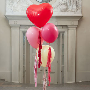 Heart Three Foot Tassel Tail Balloon - outdoor decorations