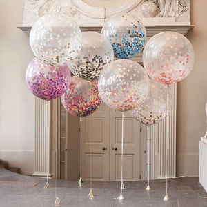 Giant Confetti Filled Balloon - wedding day finishing touches