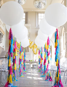 Bespoke Giant Balloon With Tassel Tail - decoration