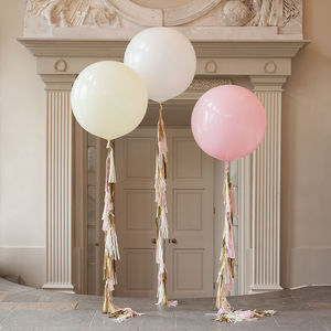Baby Girl Tassel Tail Balloon - children's parties