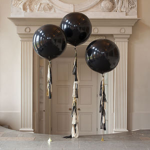 Glitz And Glam Tassel Tail Balloon Trio - new years eve entertaining
