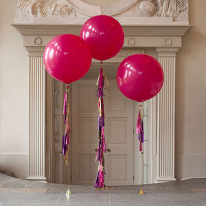 Party Girl Tassel Tail Balloon Trio