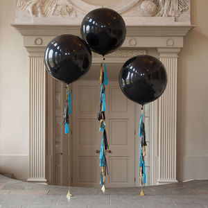 Party Boy Tassel Tail Balloon Trio - room decorations