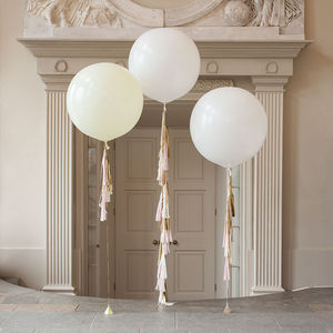 Baby Pink Tassel Tail Balloon Trio