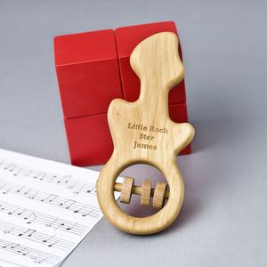 Personalised Organic Guitar Rattle - rattles