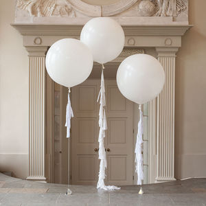 Innocence Tassel Tail Balloon Trio - room decorations