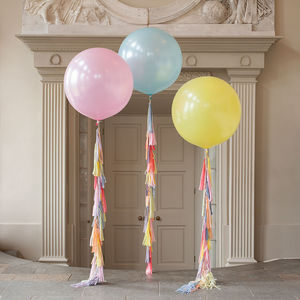 Pastel Rainbow Tassel Tail Giant Balloon - garden party