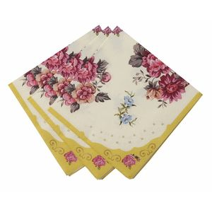 Vintage Floral Paper Napkins - decoration