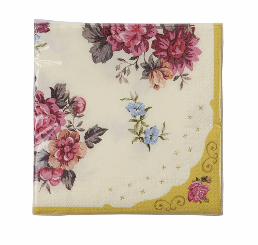 Vintage Floral Paper Napkins By Postbox Party