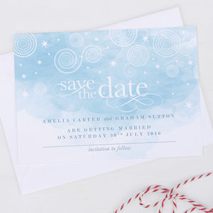 Watercolour Style Save The Date Cards - wedding stationery
