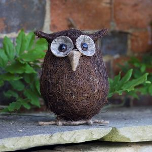 Ollie The Owl Garden Ornament - sculptures & ornaments