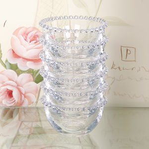 Set Of Four Beaded Glass Bowls As Used By Nigella