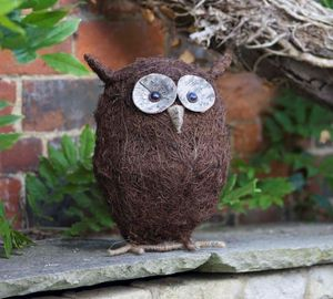 Garden Ornament / Ozzie The Owl - sculptures & ornaments